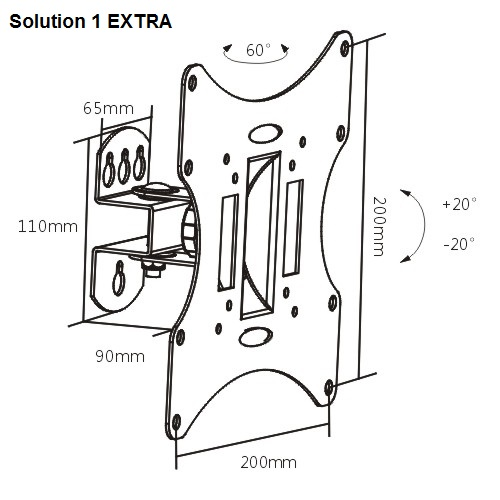 Solution-1-extra-zidni nosač za TV